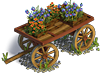 Wagon with flowers