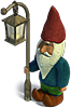 Gnome with a street lamp
