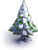 Snow-covered fir-tree